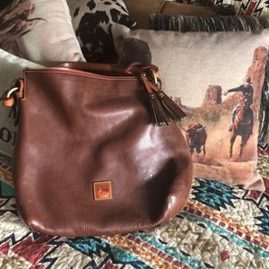 Dooney and bourke brown large leather bag!
